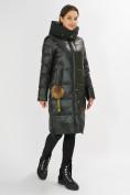 Оптом Куртка зимняя темно-зеленого цвета 72168TZ в Екатеринбурге