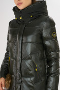 Оптом Куртка зимняя темно-зеленого цвета 72168TZ в Екатеринбурге, фото 11