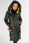Оптом Куртка зимняя темно-зеленого цвета 72168TZ в Екатеринбурге, фото 7