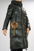 Оптом Куртка зимняя темно-зеленого цвета 72168TZ в Екатеринбурге, фото 9