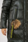 Оптом Куртка зимняя темно-зеленого цвета 72168TZ в Екатеринбурге, фото 10