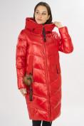 Оптом Куртка зимняя красного цвета 72169Kr в Екатеринбурге, фото 4