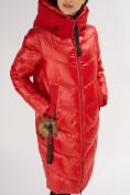Оптом Куртка зимняя красного цвета 72169Kr в Екатеринбурге, фото 9