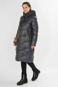 Оптом Куртка зимняя темно-серого цвета 72169TC в Екатеринбурге, фото 2