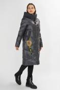 Оптом Куртка зимняя темно-серого цвета 72169TC в Екатеринбурге, фото 3