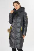 Оптом Куртка зимняя темно-серого цвета 72169TC в Екатеринбурге, фото 5