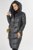 Оптом Куртка зимняя темно-серого цвета 72169TC в Екатеринбурге, фото 6