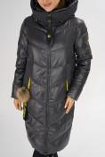 Оптом Куртка зимняя темно-серого цвета 72169TC в Екатеринбурге, фото 9
