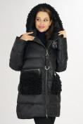Оптом Куртка зимняя big size черного цвета 72180Ch в Екатеринбурге, фото 11