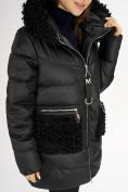 Оптом Куртка зимняя big size черного цвета 72180Ch в Екатеринбурге, фото 12