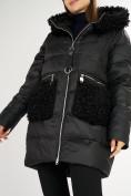 Оптом Куртка зимняя big size черного цвета 72180Ch в Екатеринбурге, фото 13