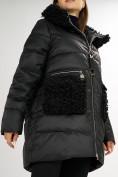 Оптом Куртка зимняя big size черного цвета 72180Ch в Екатеринбурге, фото 14