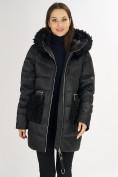 Оптом Куртка зимняя big size черного цвета 72180Ch в Екатеринбурге, фото 15