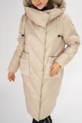 Оптом Куртка зимняя бежевого цвета 72185B в Екатеринбурге, фото 10