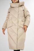 Оптом Куртка зимняя бежевого цвета 72185B в Екатеринбурге, фото 11