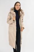Оптом Куртка зимняя бежевого цвета 72185B в Екатеринбурге, фото 12