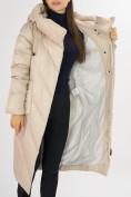 Оптом Куртка зимняя бежевого цвета 72185B в Екатеринбурге, фото 13
