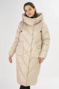 Оптом Куртка зимняя бежевого цвета 72185B в Екатеринбурге, фото 5