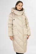 Оптом Куртка зимняя бежевого цвета 72185B в Екатеринбурге, фото 6