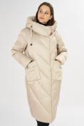 Оптом Куртка зимняя бежевого цвета 72185B в Екатеринбурге, фото 7