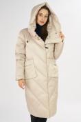 Оптом Куртка зимняя бежевого цвета 72185B в Екатеринбурге, фото 8