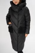 Оптом Куртка зимняя черного цвета 72185Ch в Екатеринбурге, фото 10