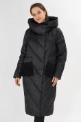Оптом Куртка зимняя черного цвета 72185Ch в Екатеринбурге, фото 4