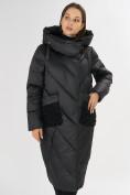 Оптом Куртка зимняя черного цвета 72185Ch в Екатеринбурге, фото 5