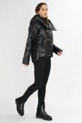 Оптом Куртка зимняя черного цвета 7223Ch в Екатеринбурге, фото 4