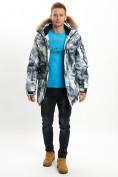 Оптом Mолодежная зимняя куртка мужская серого цвета 737Sr в Екатеринбурге, фото 3