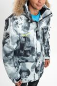 Оптом Mолодежная зимняя куртка мужская серого цвета 737Sr в Екатеринбурге, фото 11