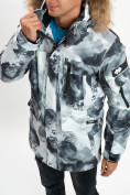 Оптом Mолодежная зимняя куртка мужская серого цвета 737Sr в Екатеринбурге, фото 12