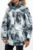Оптом Mолодежная зимняя куртка мужская серого цвета 737Sr в Екатеринбурге, фото 13