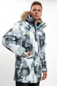 Оптом Mолодежная зимняя куртка мужская серого цвета 737Sr в Екатеринбурге, фото 14