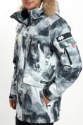 Оптом Mолодежная зимняя куртка мужская серого цвета 737Sr в Екатеринбурге, фото 15