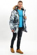 Оптом Mолодежная зимняя куртка мужская серого цвета 737Sr в Екатеринбурге, фото 4