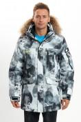 Оптом Mолодежная зимняя куртка мужская серого цвета 737Sr в Екатеринбурге, фото 2