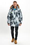 Оптом Mолодежная зимняя куртка мужская серого цвета 737Sr в Екатеринбурге