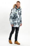 Оптом Mолодежная зимняя куртка мужская серого цвета 737Sr в Екатеринбурге, фото 5