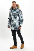Оптом Mолодежная зимняя куртка мужская серого цвета 737Sr в Екатеринбурге, фото 6