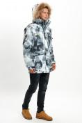 Оптом Mолодежная зимняя куртка мужская серого цвета 737Sr в Екатеринбурге, фото 8