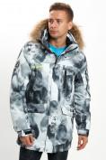 Оптом Mолодежная зимняя куртка мужская серого цвета 737Sr в Екатеринбурге, фото 9