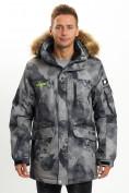 Оптом Mолодежная зимняя куртка мужская темно-серого цвета 737TC в Екатеринбурге, фото 2
