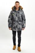 Оптом Mолодежная зимняя куртка мужская темно-серого цвета 737TC в Екатеринбурге