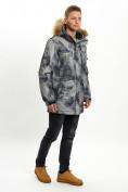 Оптом Mолодежная зимняя куртка мужская темно-серого цвета 737TC в Екатеринбурге, фото 3