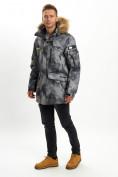 Оптом Mолодежная зимняя куртка мужская темно-серого цвета 737TC в Екатеринбурге, фото 4