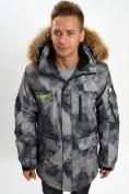 Оптом Mолодежная зимняя куртка мужская темно-серого цвета 737TC в Екатеринбурге, фото 7
