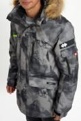Оптом Mолодежная зимняя куртка мужская темно-серого цвета 737TC в Екатеринбурге, фото 8