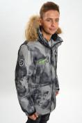 Оптом Mолодежная зимняя куртка мужская темно-серого цвета 737TC в Екатеринбурге, фото 9