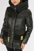Оптом Куртка зимняя болотного цвета 7389Bt в Екатеринбурге